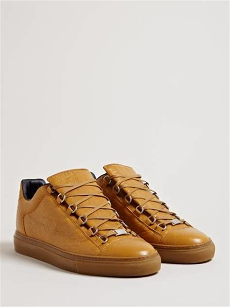 brown balenciaga sneakers balenciaga arena trainers in brown for lyst