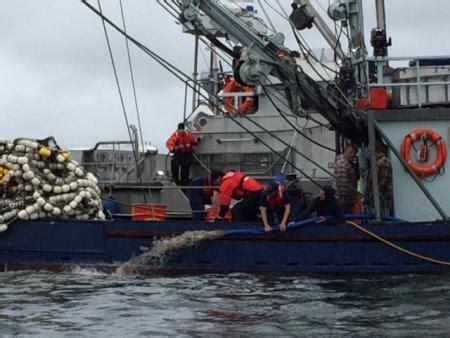 boat service vernon coast guard assists f v vernon taking on water near