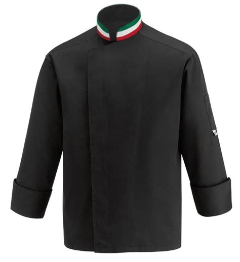 veste de cuisine noir veste de cuisine italienne col italien pizzaiolo