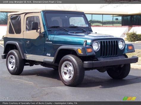 1998 Jeep Wrangler Se 1998 Jeep Wrangler Se 4x4 In Emerald Green Pearl Photo No