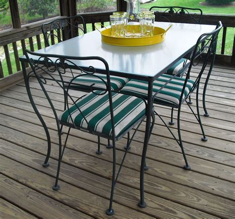 glass dining table and chairs nz vintage meadowcraft wrought iron glass top table chairs