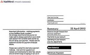Credit Card Application Form Natwest Natwest Order A Paper Statement Stonewall Services