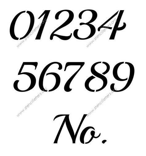 free printable vintage number stencils 25 best ideas about number stencils on pinterest number