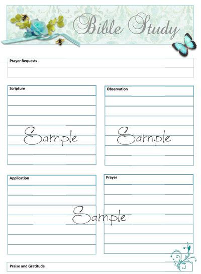 soap bible study worksheet template from heartsong1 on