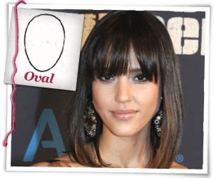oval face full fringe the right bangs for your face