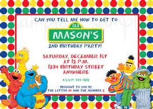 sesame birthday invitation elmo birthday invitation