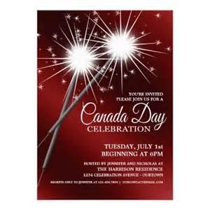 dazzling sparklers canada day invitations