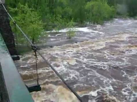 jay cooke state park swinging bridge raging water at jay cooke state park swinging bridge youtube