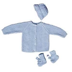 Baby boy blue knit sweater set thisnext