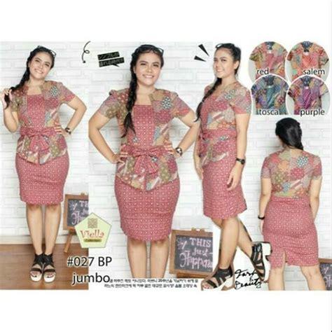 jual model  dress batik modern  jumbo xl big size