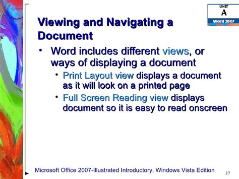 reading layout word 2007 word 2007 unit a