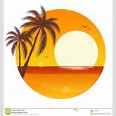 Sunset With Palm Trees Royalty Free Stock Image - Image: 24919206