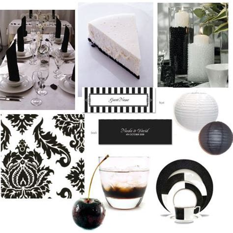 decorations for black and white themed birthday dinner for 45th birthday