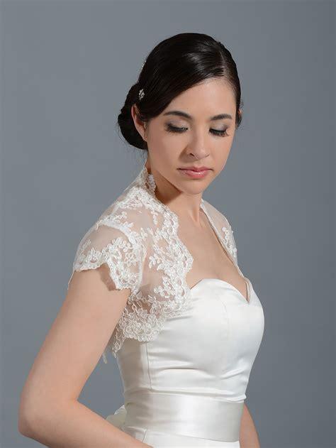 braut bolero ivory ivory cap sleeve bridal alencon lace bolero jacket