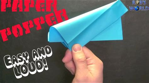 How To Make An Origami Paper Popper - how to make a paper popper easy and loud