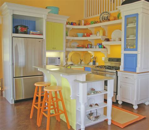colourful kitchens very colorful painted kitchen bring on the seashore s