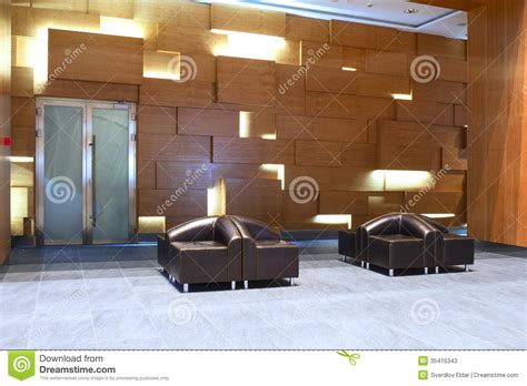 Modern Leather Armchairs Lobby In The Business Centre Stock Image Image 35415343