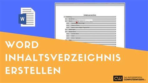 Word Vorlage Jura word inhaltsverzeichnis erstellen tutorial