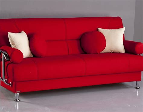 kebo futon sofa bed red red futon sofa dhp metro split futon thesofa