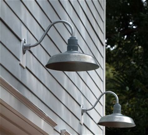 Garage Outdoor Lighting Fixtures Galvanized Gooseneck Lights On The Outside Commercial Lighting Up And