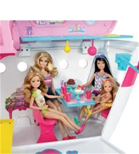 barbie boat video barbie sisters cruise ship toys games