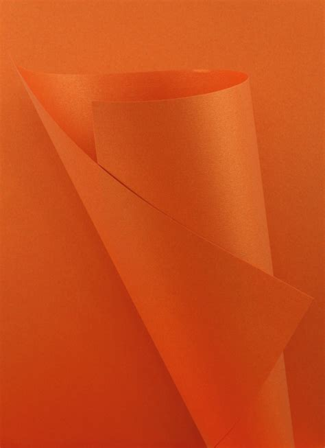 Orange Craft Paper - pearlescent paper orange 120gsm wl coller ltd