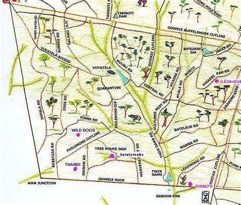 map of roads on djuma my safari live obsession