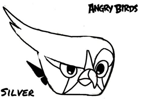 coloring pages angry birds 2 silver coloring page by angrybirdstiff on deviantart