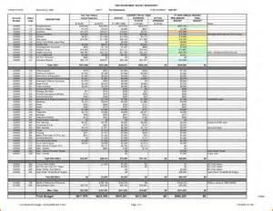 sample budget spreadsheet expense report