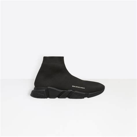 lyst balenciaga speed sneakers  black  men