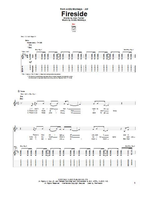 ukulele tutorial arctic monkeys arctic monkeys fireside guitar tab sheetmusicdirect com