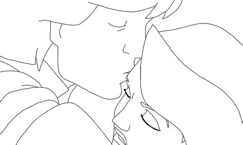 lineart derek and odette 2 by swanprincessfan on deviantart