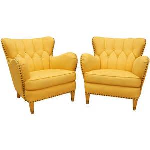 yellow accent chair arenskjold antiques pair of yellow club chairs