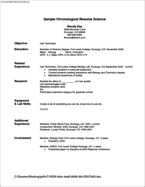 Resume Sle Waiter by 28 Resume Sle For Waitress Collegesinpa Org