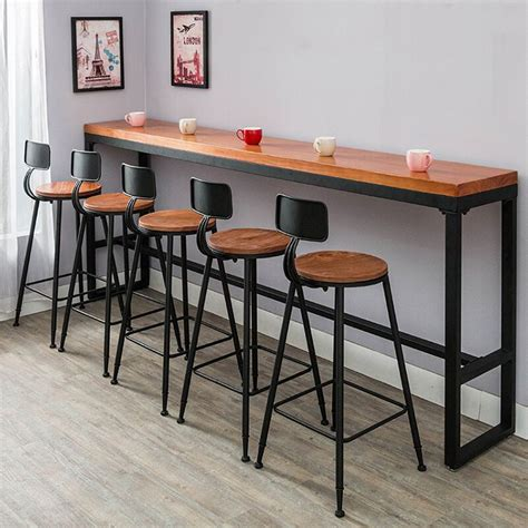 bar top tables and chairs american retro leisure outdoors high bar counter table
