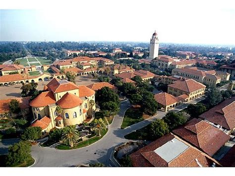 stanford university arial view  campus  beautiful college campuses pinterest
