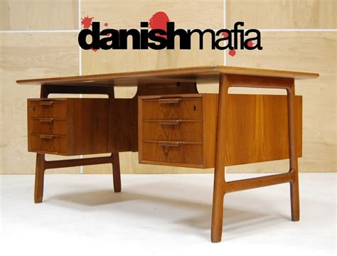 Mid Century Desk by Mid Century Danish Modern Teak Omann Jun Desk Credenza