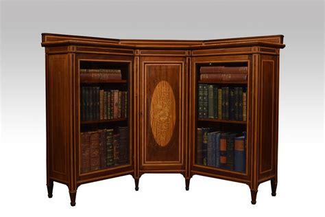 Mahogany Corner Bookcase Mahogany Inlaid Corner Bookcase Cabinet Antiques Atlas
