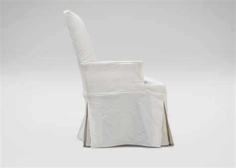 slipcovered dining chairs with arms dayton slipcovered chair arm host chairs