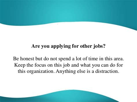 are you applying for other question and answer
