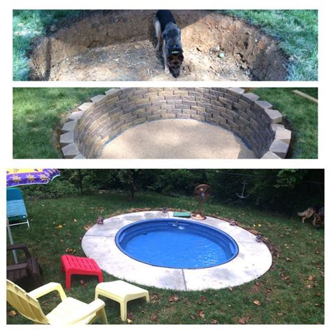 backyard dog pool this is amazing how to make your own outdoors swimming pool cheap diy happy gardening