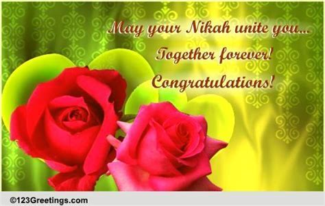 May Your Nikah Unite You! Free Around the World eCards