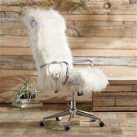 white faux fur desk chair pink faux fur cabriole legs desk chair