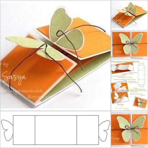How To Design Greeting Card Templates by Diy Butterfly Greeting Card Template