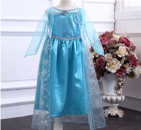 Kaos Baju Anak Print Frozen Elsa Purple Dress aliexpress buy wholesale in stock 2014 new frozen dress elsa costumes