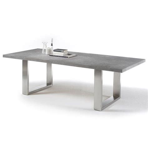 Dining Table With Stainless Steel Legs Savona 220cm Dining Table In Grey With Stainless Steel Legs Must Glasses