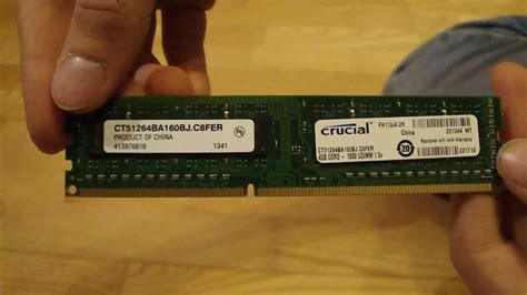 Crucial 4gb Ddr3 1600mhz crucial 4gb ddr3 1600mhz 1 5v memory stick unboxing talking version