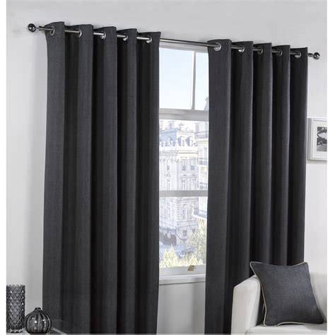 black blackout curtains bucking blackout eyelet curtains