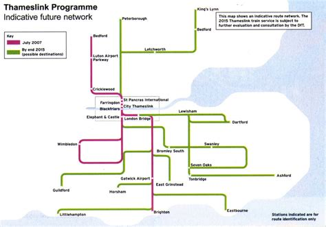 themes link train map thameslink train rail maps
