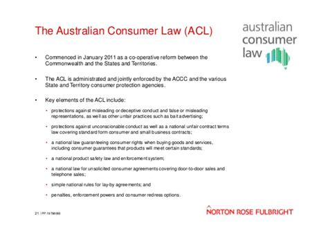 consumer law section 609 competition and consumer law update every cloud has a